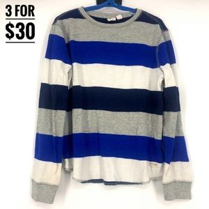 Gap kids boy long sleeved shirt striped med 8